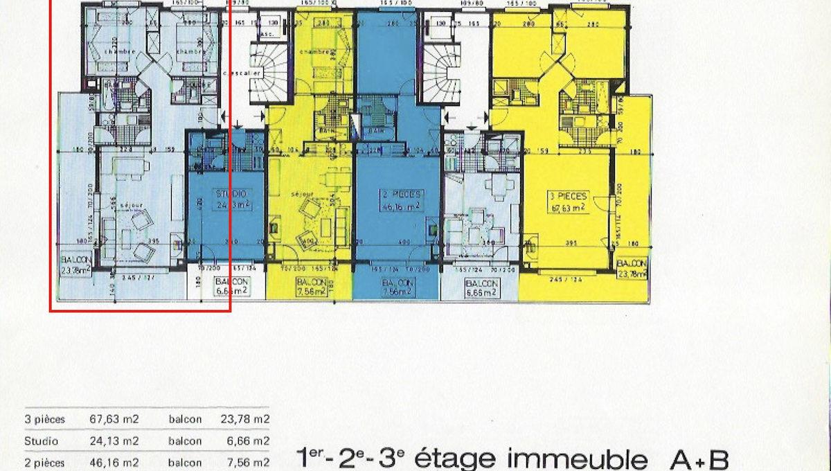 ARMINA A 1 plan d'appartement